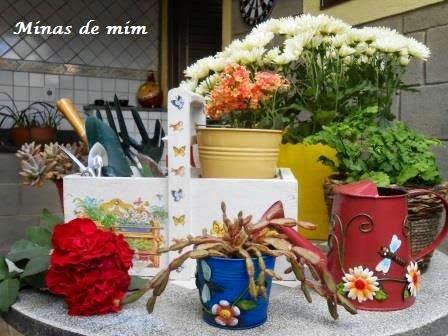 """Caixa de jardinagem e """"O tempo no jardim"""""""